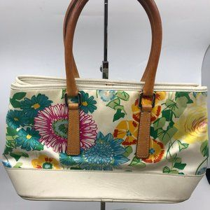 COACH Floral Multi Color Fabric Tote Bag